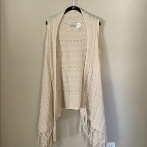 Cream Knit Sweater vest